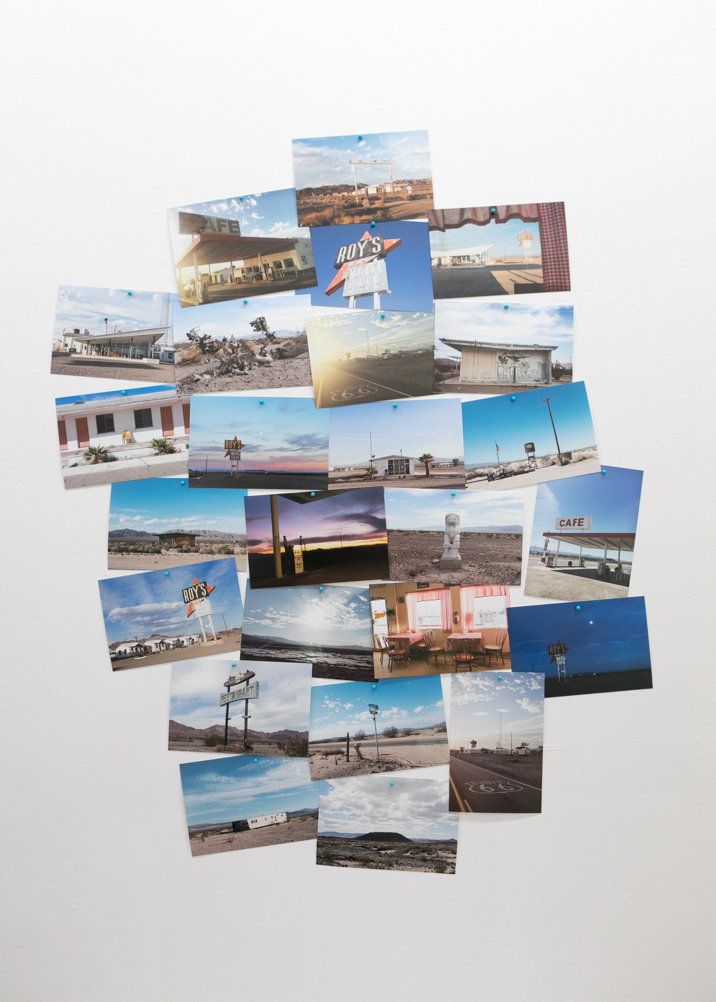 Installation shot: Postcards