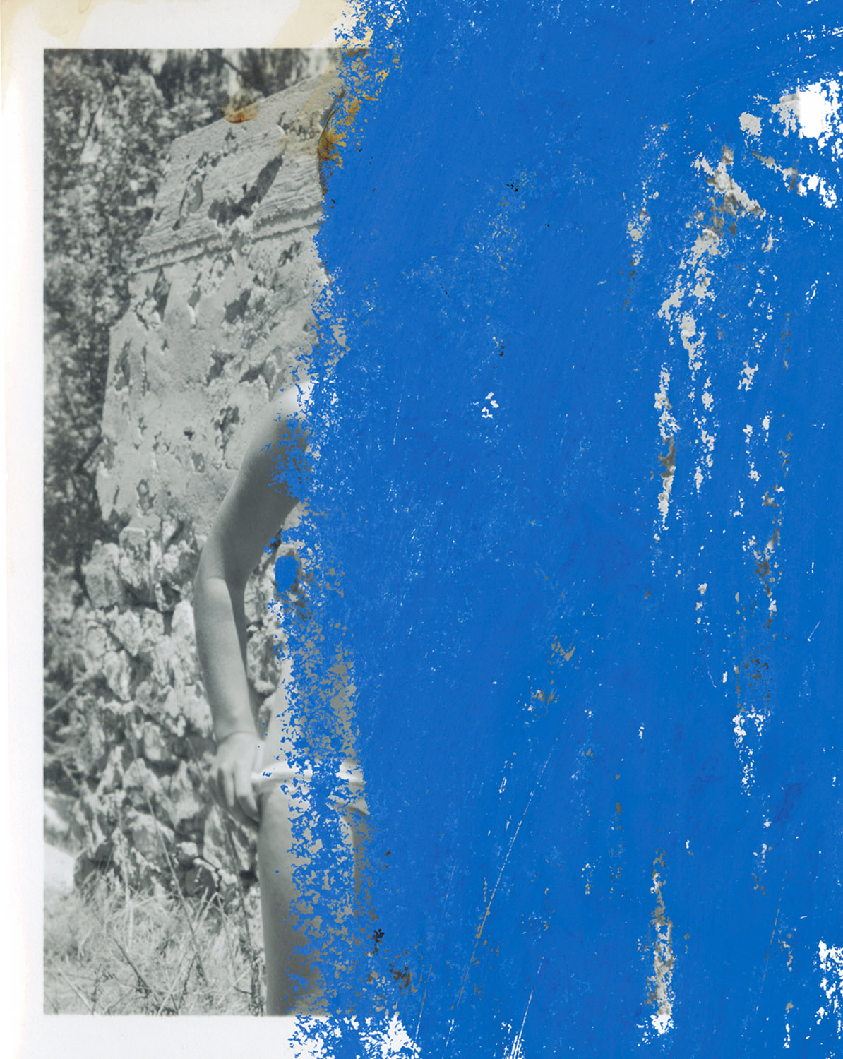 """Nude 1 , 2003, 19 1/2 x 15 3/4"""", digital print and frame. (work on paper / edition of 5)"""