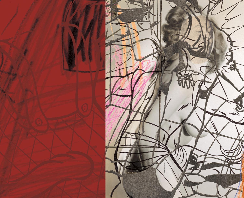 "Red Slide , 2004, 35 3/4 x 42 1/4"", digital print, plexiglass and frame."