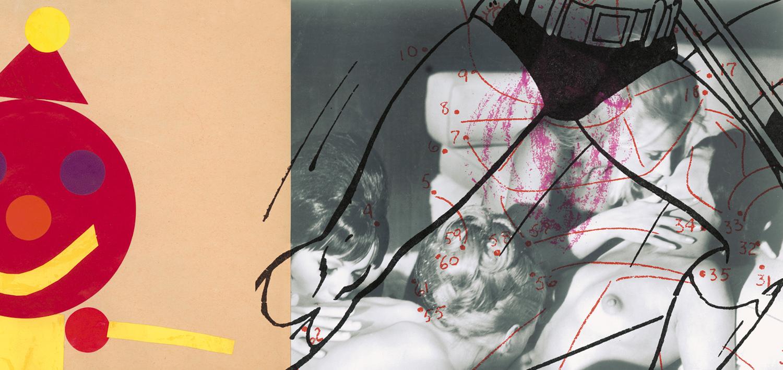 "Black Blonde , 2003, 44 1/4 x 91"", digital print, plexiglass and frame."
