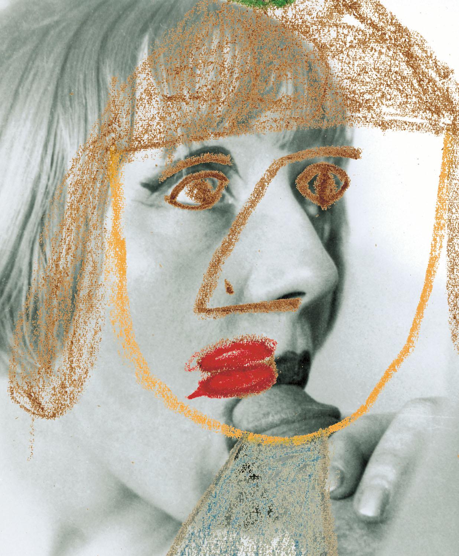 """Blow Job 1 , 2003, 23 1/2 x 19 1/2"""", digital print, plexiglass and frame."""