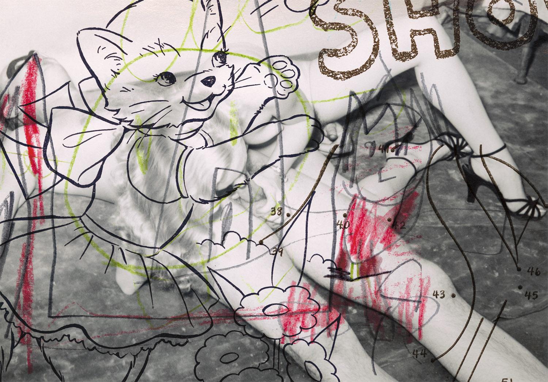 """Blow Job 3 , 2003, 41 x 57 3/4"""", digital print, plexiglass and frame."""