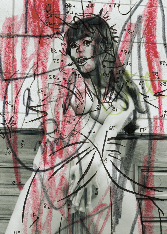 "Nude 1 , 2003, 42 x 30 3/4"", digital print, plexiglass and frame."