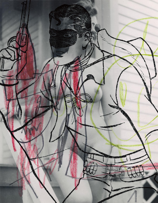 "Nude 2 , 2003, 42 x 33 1/4"", digital print, plexiglass and frame."