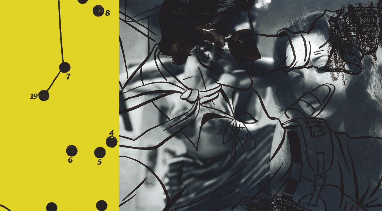 "Route 66 , 2003, 44 3/4 x 78 3/4"", digital print, plexiglass and frame."