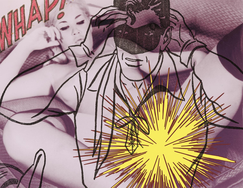 "Whap , 2003, 32 1/2 x 41 1/4"", digital print, plexiglass and frame."