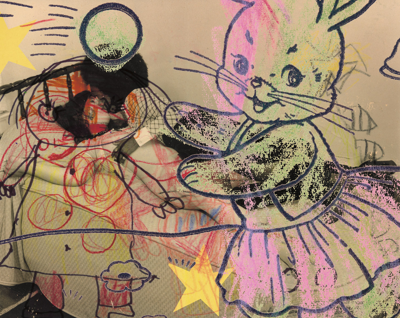"Stars and Stripes , 2003, 32 3/4 x 40 1/4"", digital print, plexiglass and frame."