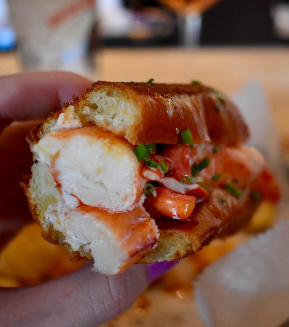 Lobster Roll at 167 Raw