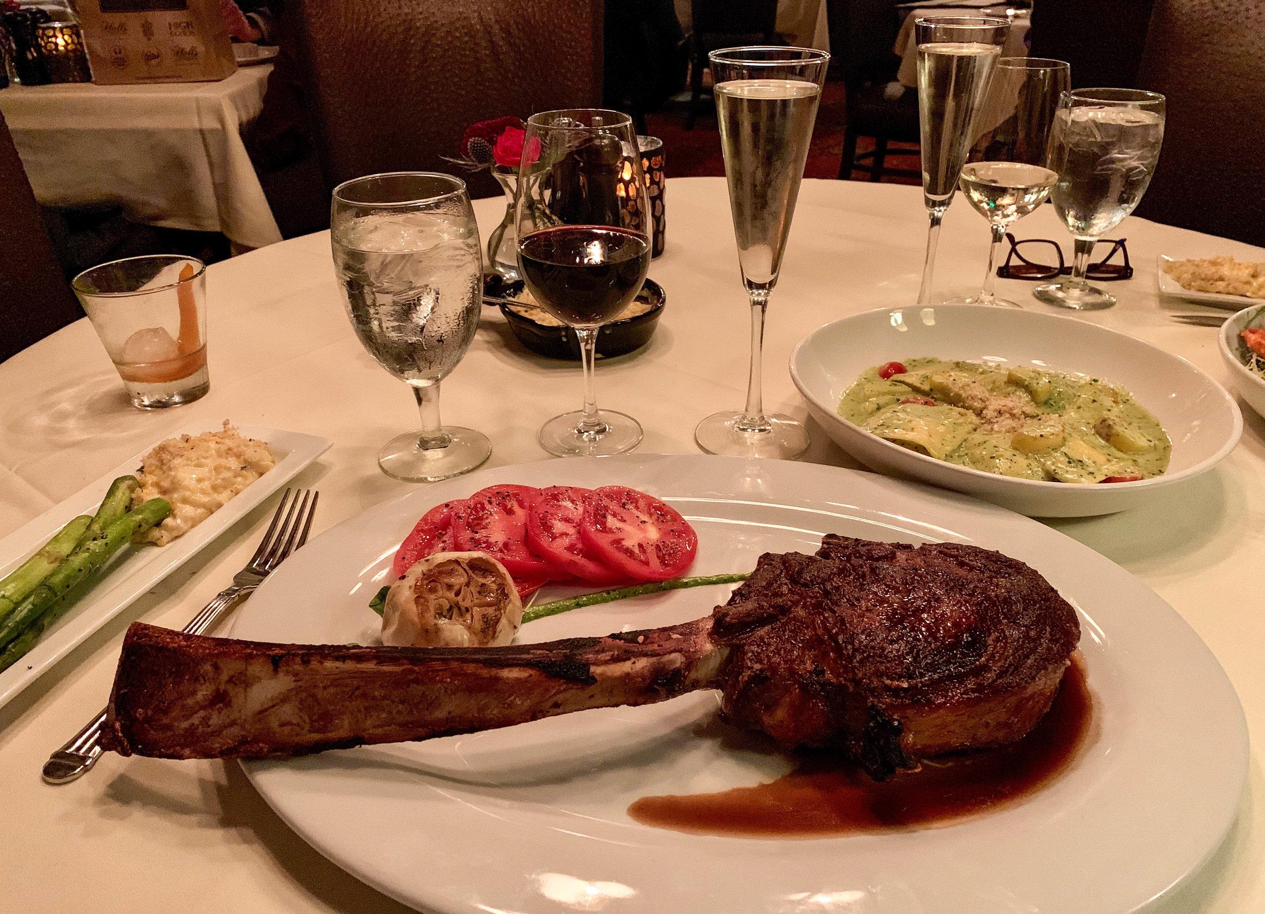 Tomahawk Steak at Halls Chophouse