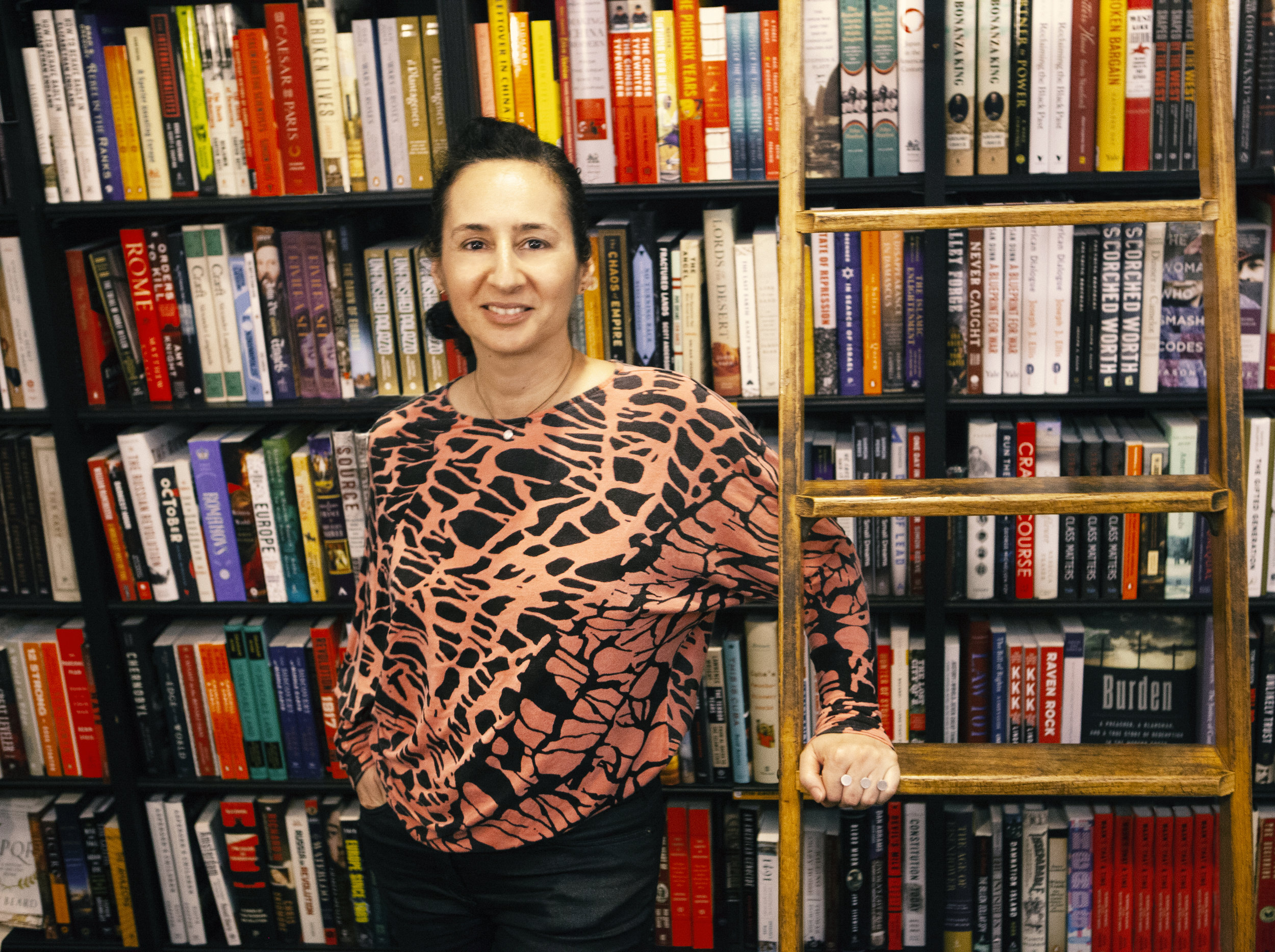 Ysanne in Los Angeles for the launch of Vegetable Cakes at Book Soup - Photo credit: Iggi Oggard, January 2019