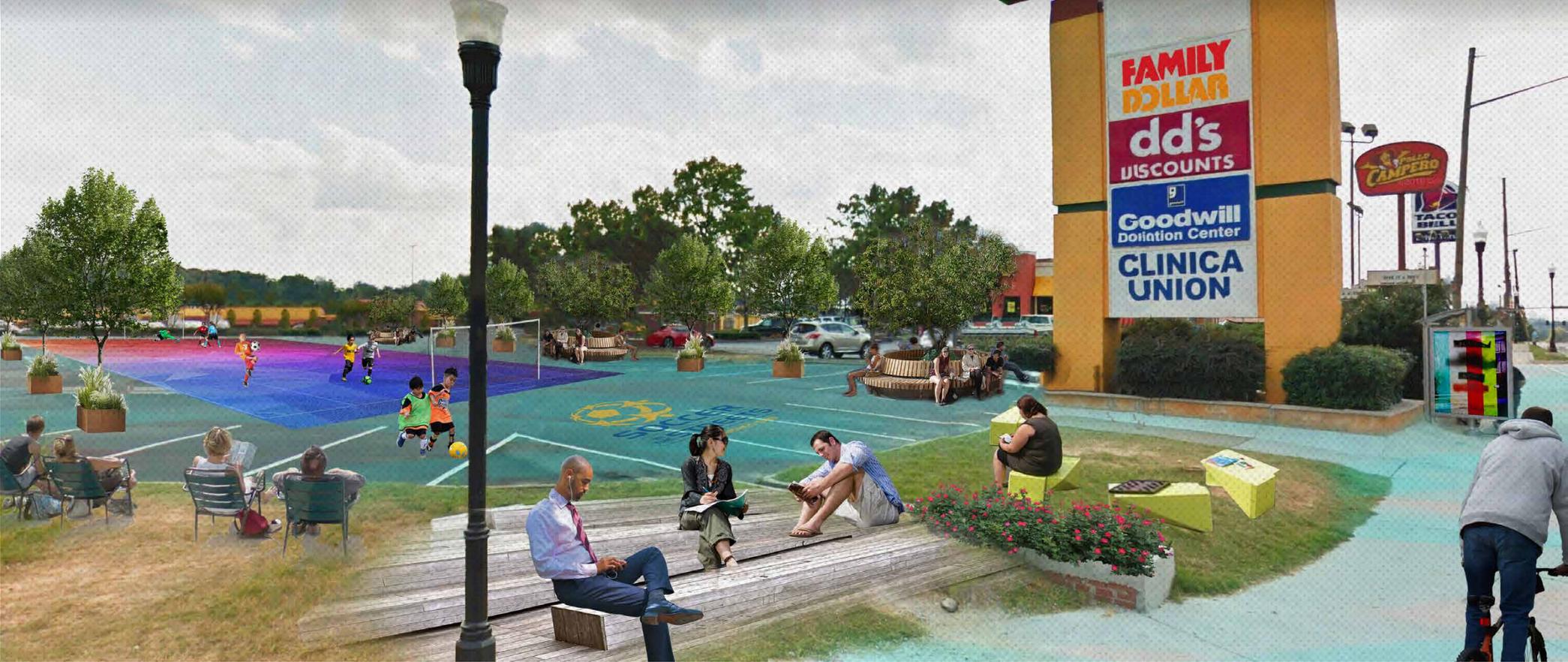 """Community Stops"" rendering by Christy Dodson"