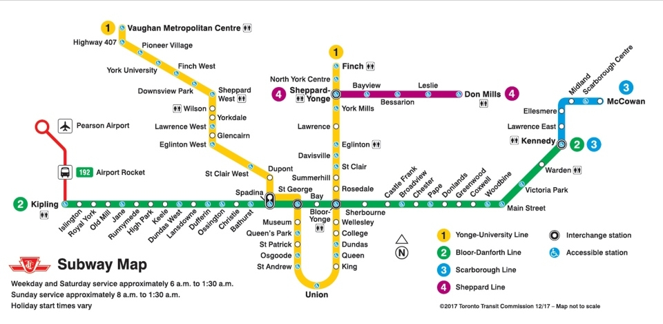 Line 1 Extenstion Subway Map