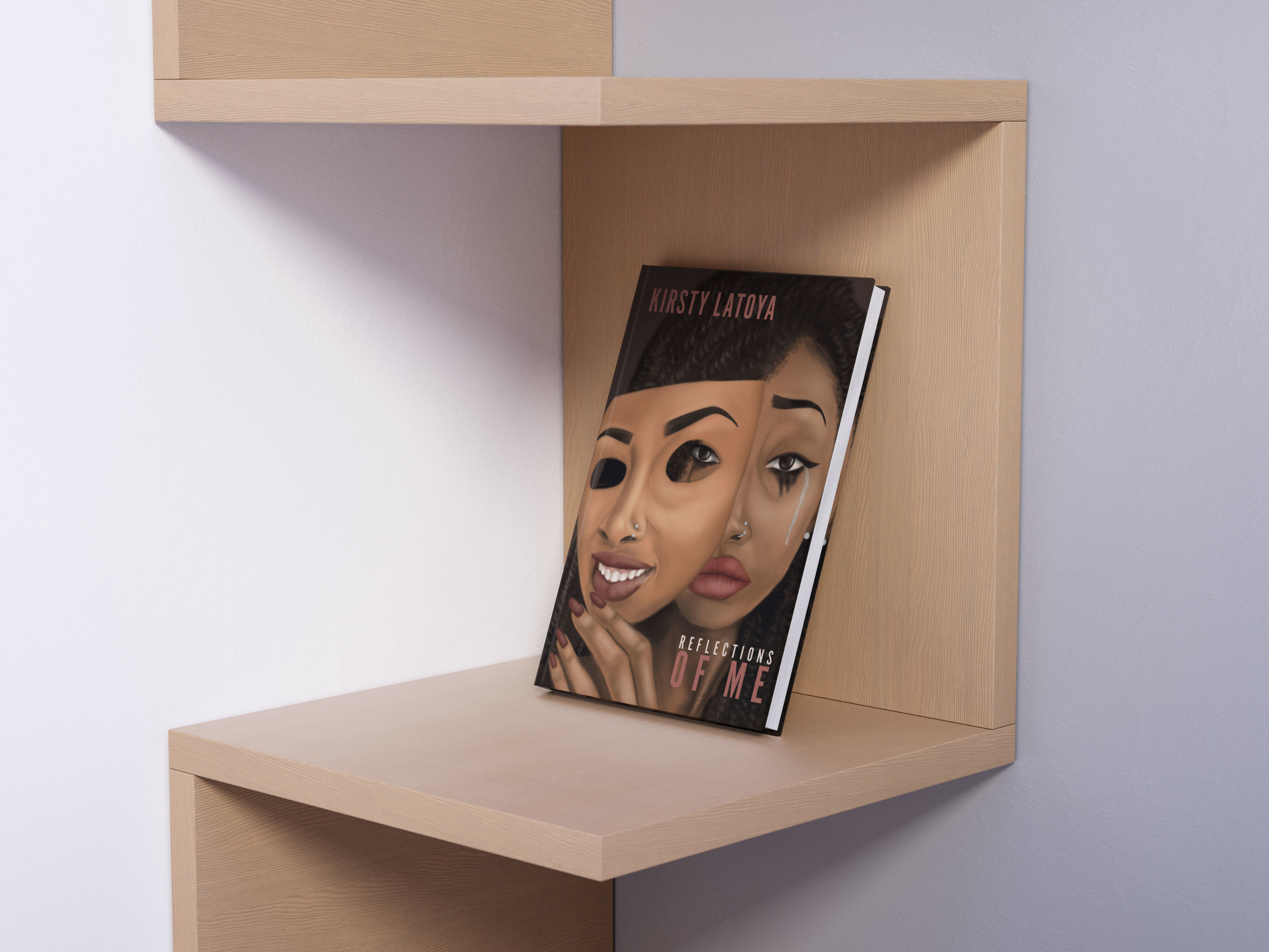 Reflections of Me - Published in 2018, this art and poetry book explores important themes such as mental health, identity, womanhood and masculinity. It conveys emotion through the eye-catching artwork and thought provoking poetry created by Kirsty Latoya.Buy the book HERE on Own It's website