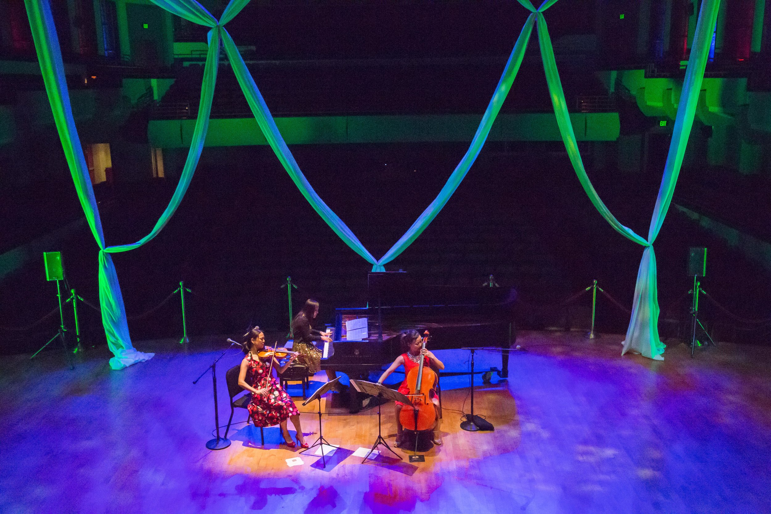 Another ah-mazing beautiful stage at University of Alabama in Birmingham March 5, 2017! Thank you, Ahn Trio had so much fun!