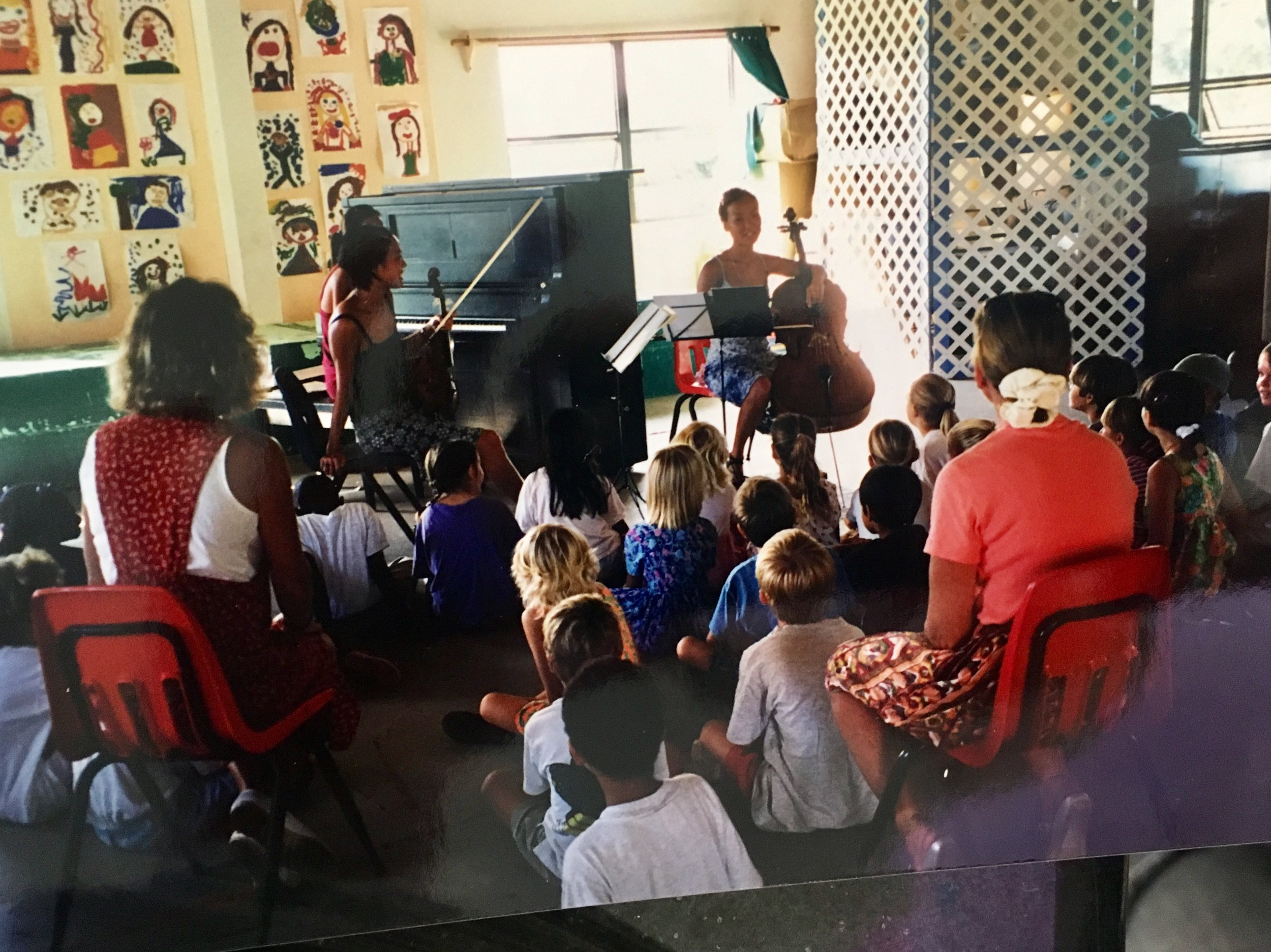 Ahn Trio's one of the first trips to St. John, USVI to perform at the St. John School of the Arts & do music classes for the students of the beautiful island!