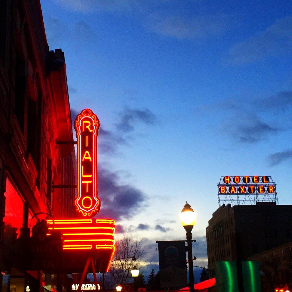 Rialto Theater in downtown Bozeman MT