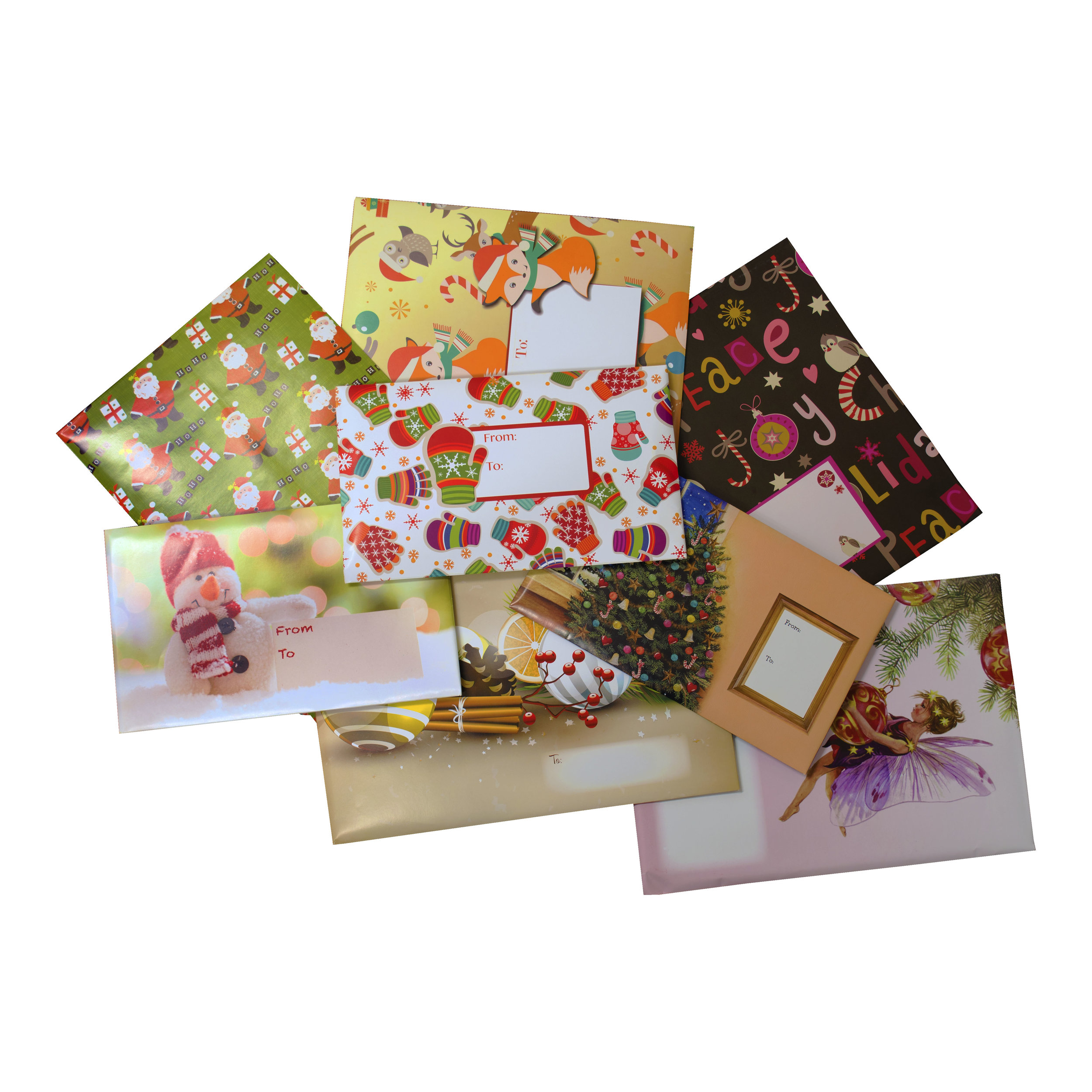 Holiday Deco Bubble Mailers