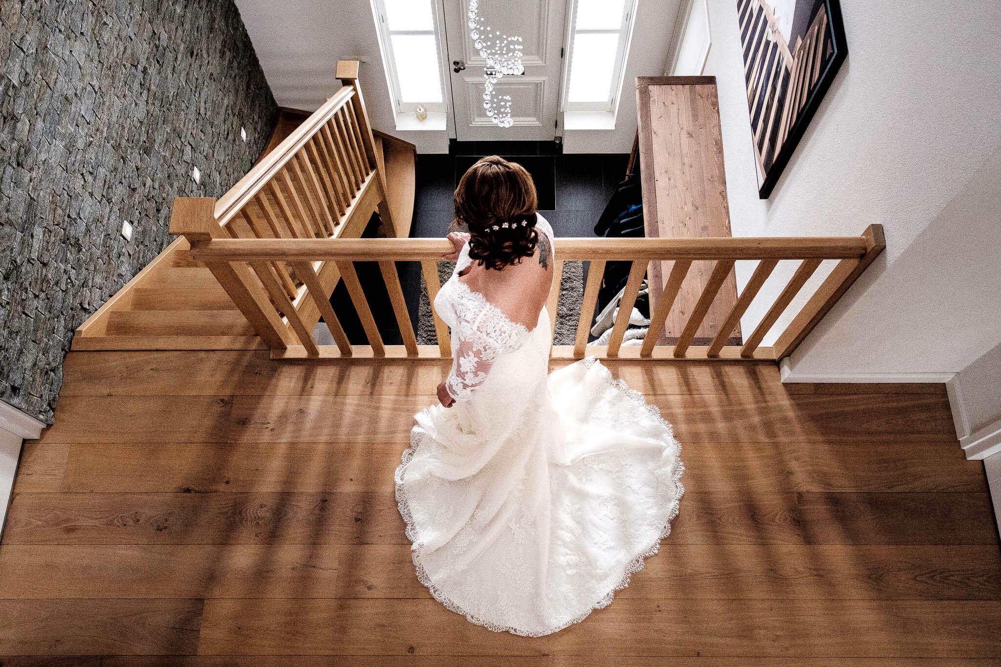peter geluk bruidsfotografie voorbereiding wachten bruid