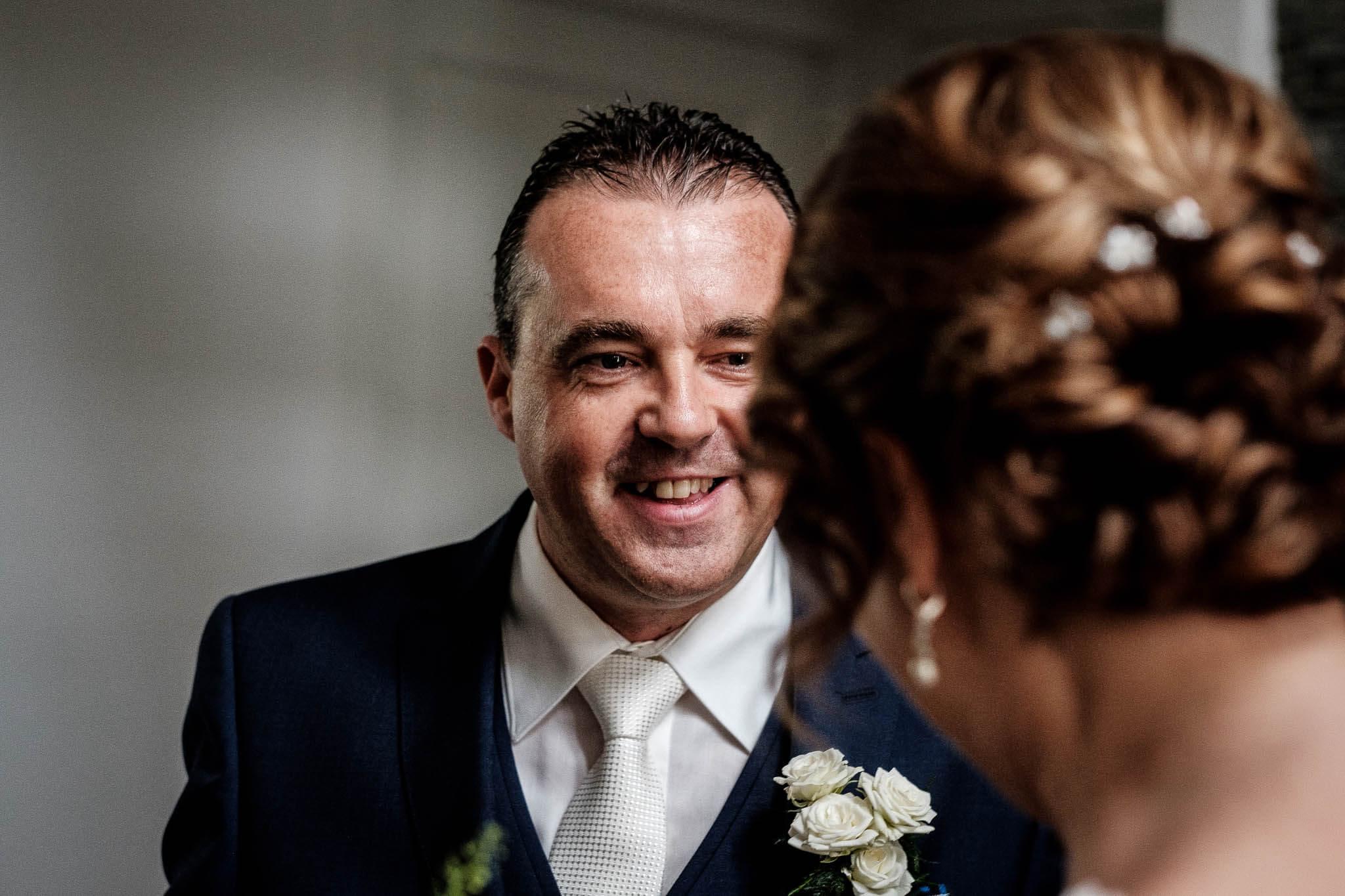 ontmoeting bruidspaar peter geluk foto