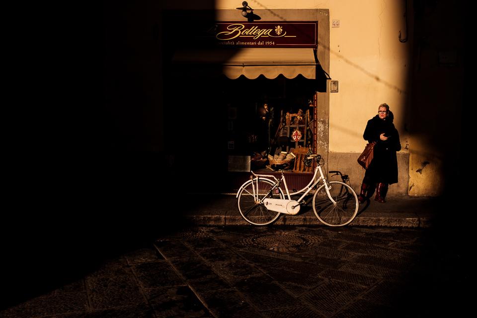 Mitzy in prachtig licht in Florence, Toscane