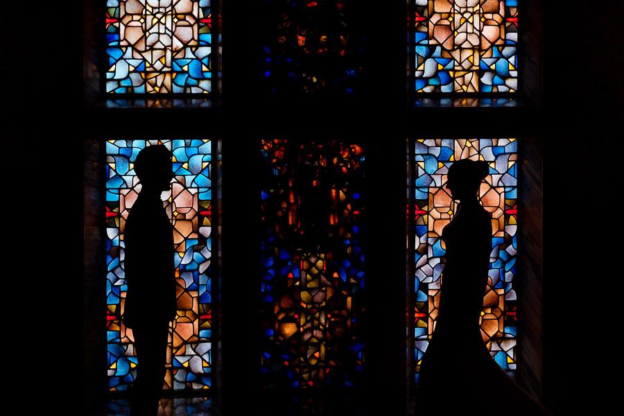 Geposeerde trouwfoto in Amsterdam