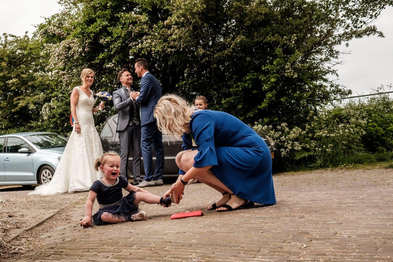 Huilen tijdens de bruiloft