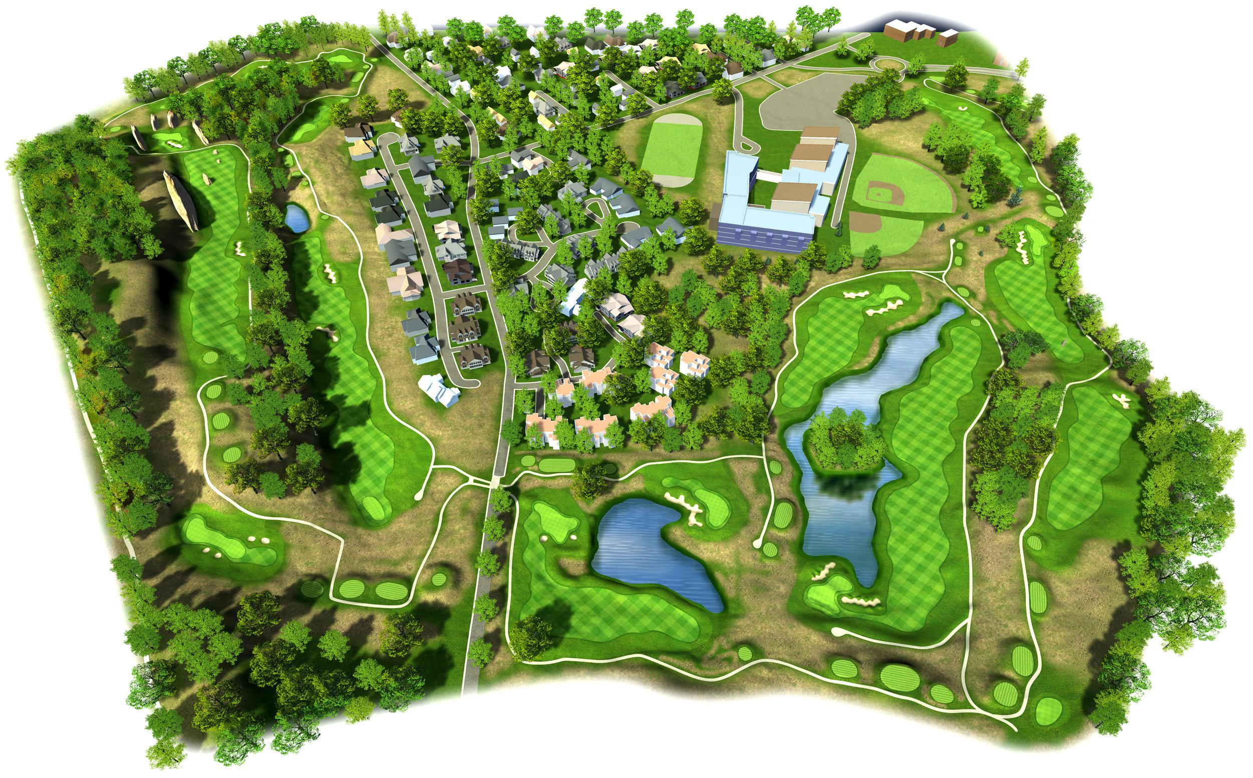 3d Golf Course Renderings Visualization Panoram Cgi