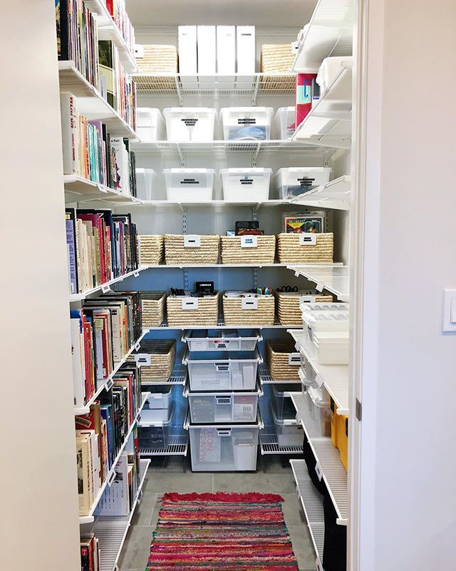 This was such a WOW project and I couldn't be prouder of the transformation @makebetterspace and our client made. The Elfa system from @thecontainerstore completely utilized the height in this closet and gave us enough shelving for this avid reader and comic collector to keep everything in order.   👉🏻Swipe to see the before!