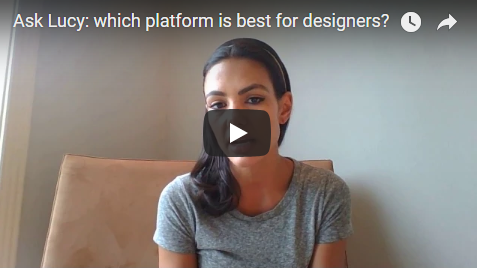 Which platform is best for designers to showcase their work? -