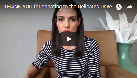 A Heartfelt Thank You - We have received 9,322 pieces (bras, panties & socks) + a $250 gift card. I am truly overwhelmed by your immense generosity. A heartfelt THANK YOU to those who donated to our Delicates Drive. And now for the heroes….