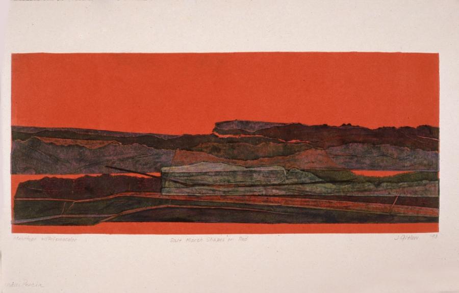 Salt Marsh Shapes on Red