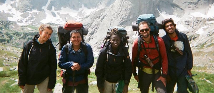 Ethan (second from left) during NOLS