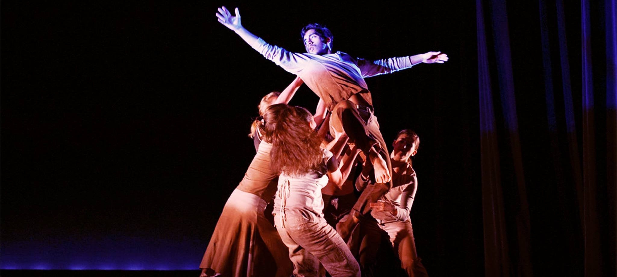 "Eyner performing in ""Charged"" for DanSIX,  choreographed by Parijat Desai"