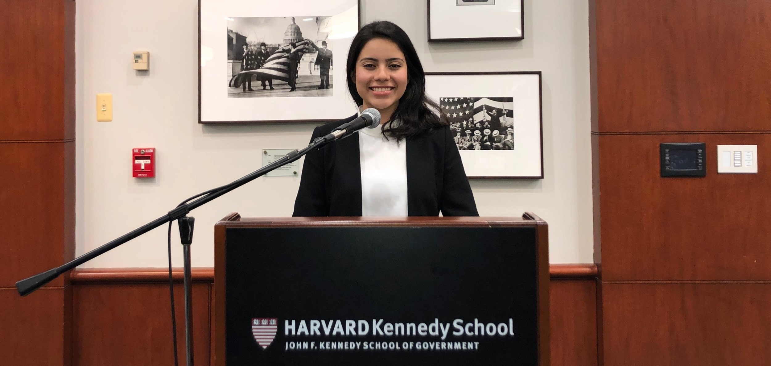 Katherine is pictured at the Public Policy and Leadership Conference at the Harvard Kennedy School of Government