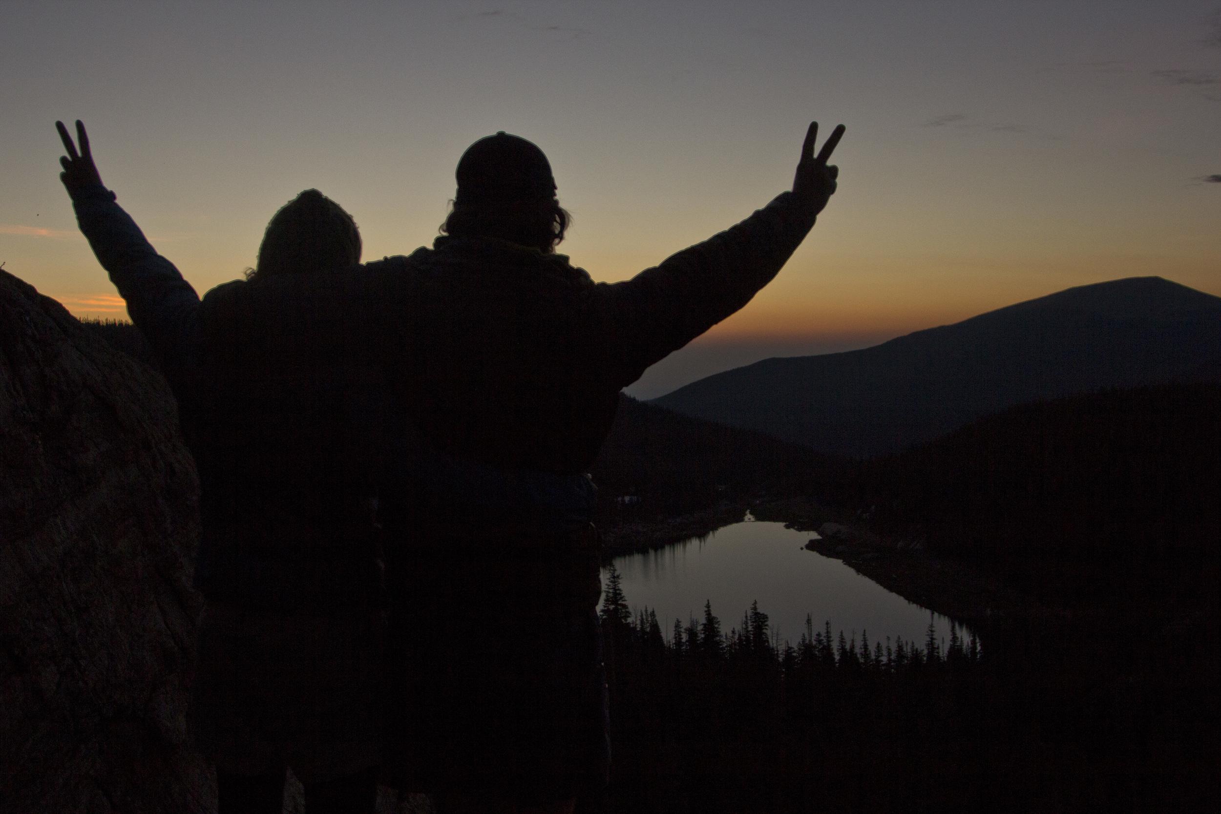 Sunrise Above Pear Lake
