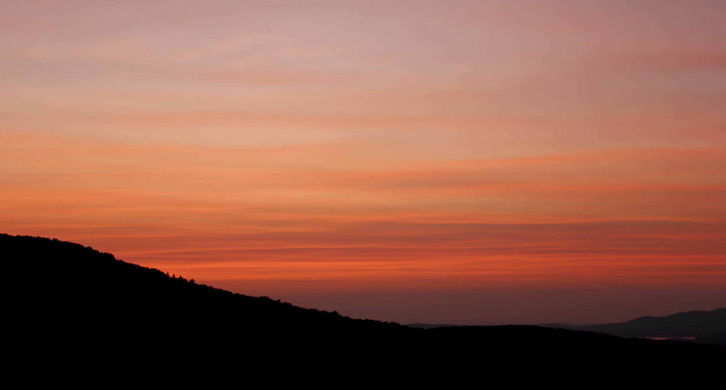 Sunrise in Vermont.