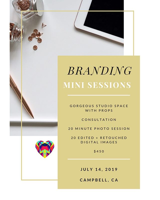 I'm excited to announce my ✨BRANDING MINI SESSIONS!✨ This is the perfect opportunity to get your brand up and running and take your business to the next level! You'll get lots of new social media content, establish credibility, and attract clients with compelling imagery.  During a session we can get photos of whatever your business needs; headshots, lifestyle shots, products, flatlays, and more!  The sessions will be held on Sunday, July 14th in Campbell, CA.  Whats included: - Gorgeous studio space with different colored backgrounds, props, office, and lounge areas - Consultation to go over the types of images that will best benefit your business - 20 minute photo session - 20 edited + retouched digital photos  Investment: $450  Spaces are limited, so shoot me a DM or email natvonphoto@gmail.com to secure a spot! 📸💗✨