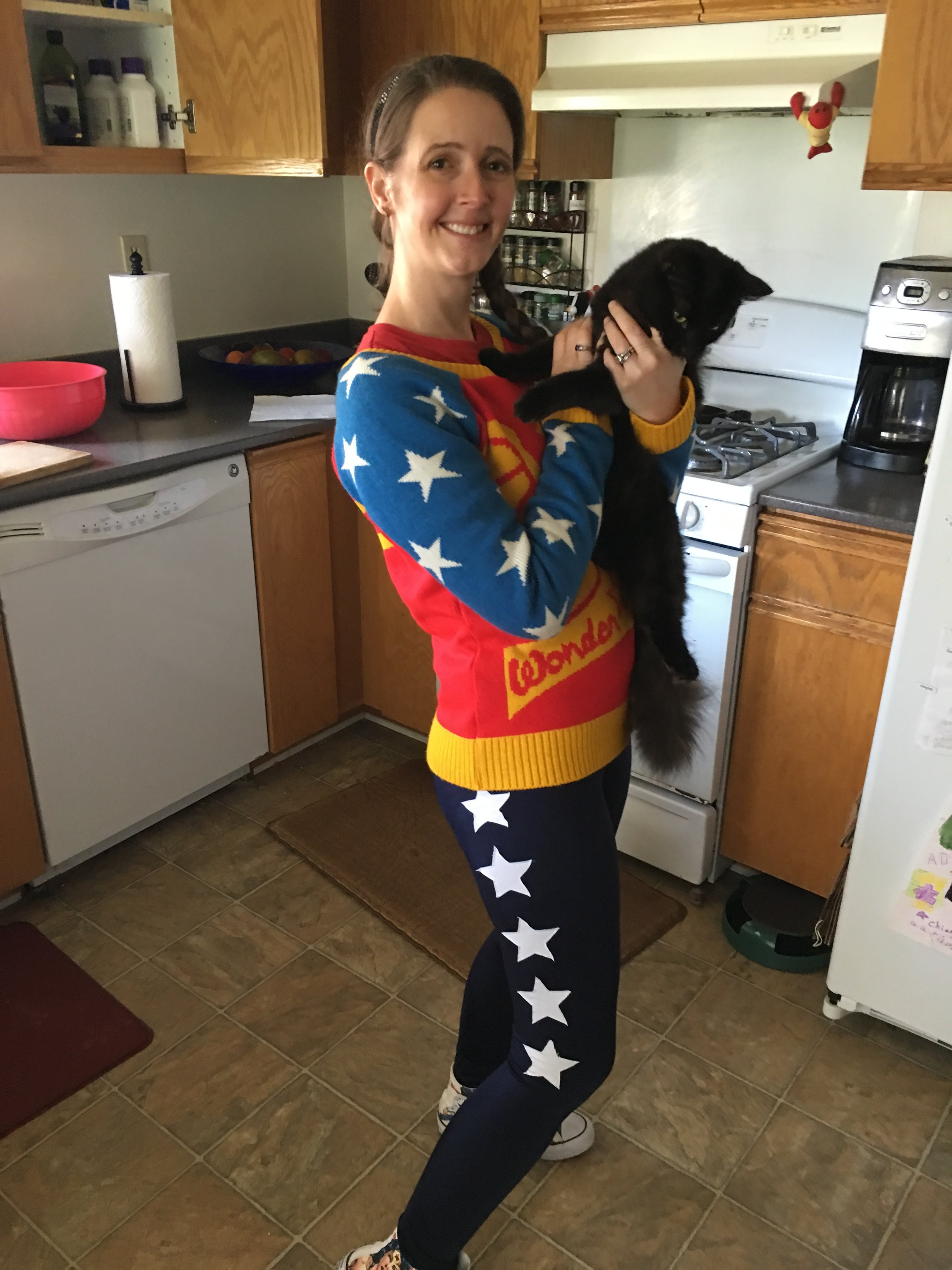I don't generally care too much about what people think of what I'm wearing. Wednesday is Wonder Woman Wednesday, for example; I wore this same outfit yesterday to a neurologist's appointment. But, pj's to have my kid rescued from a tree was a little bit pushing the envelope of good decorum.