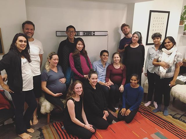 From our Prenatal Circle series 💕  Prenatal Yoga with Partners and meaningful conversations about prepping for birth & postpartum 💕