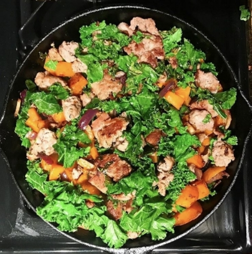 Turkey, Butternut, Kale Hash  -