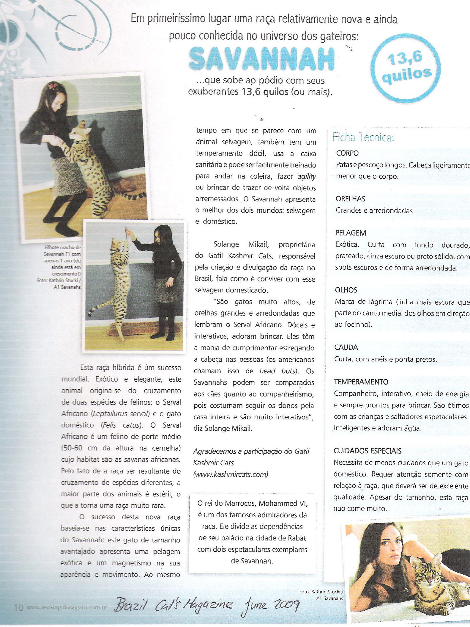 A1Savannahs Brazil Cat Magazine page 2