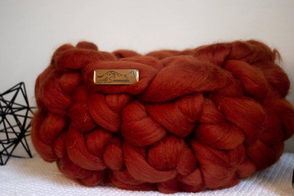 Cinnamon Merino Wool Cat Bed
