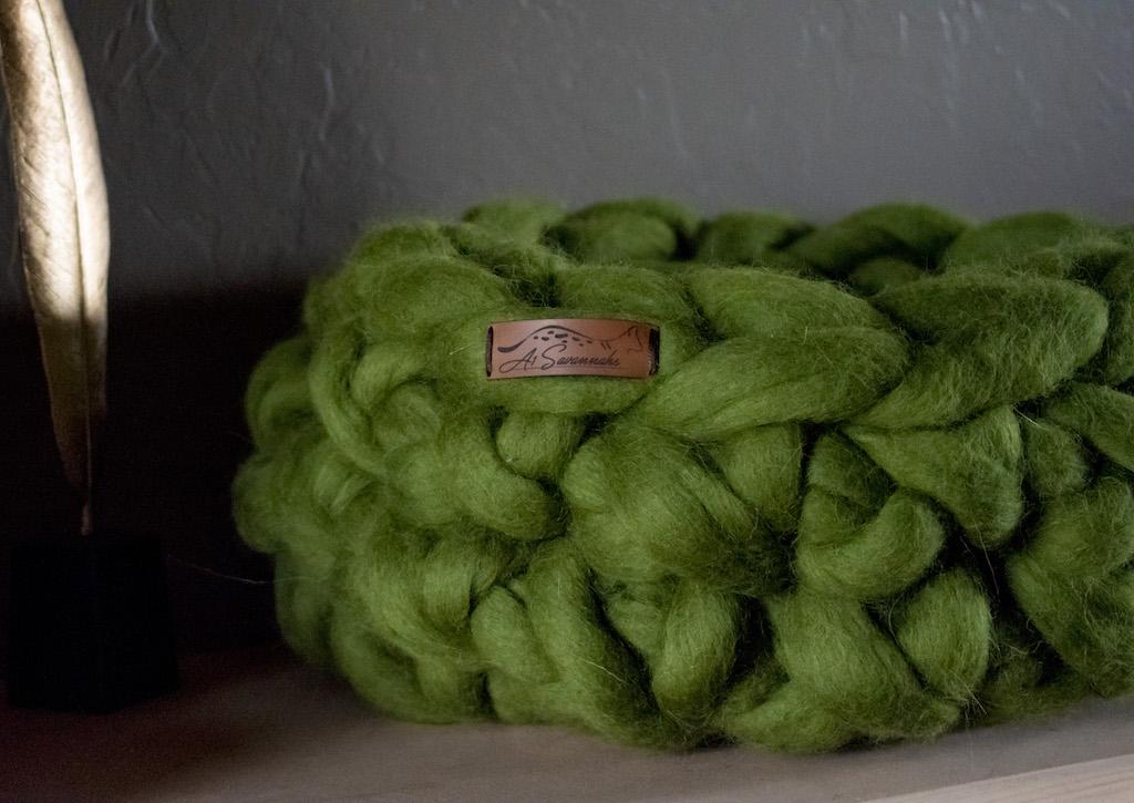 Merino Wool Cat Bed - Willow