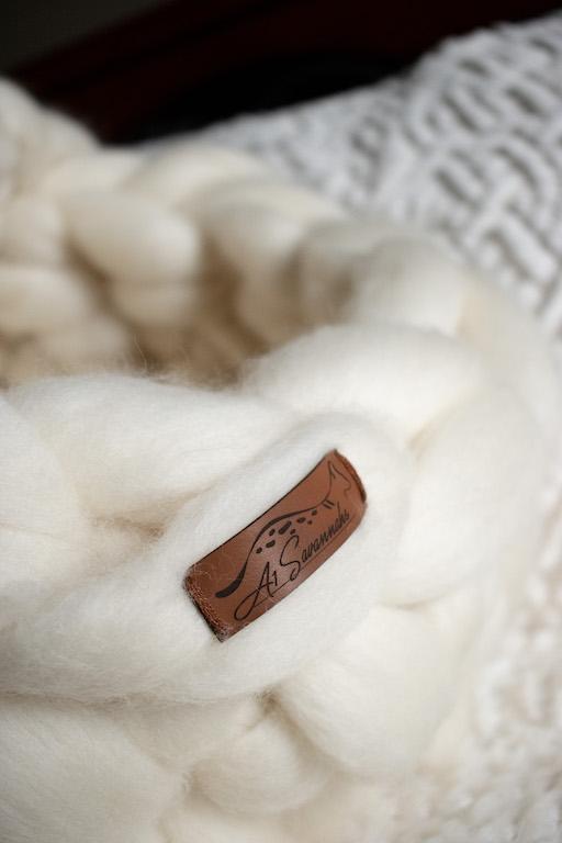 Merino Wool Cat Bed - Pearl