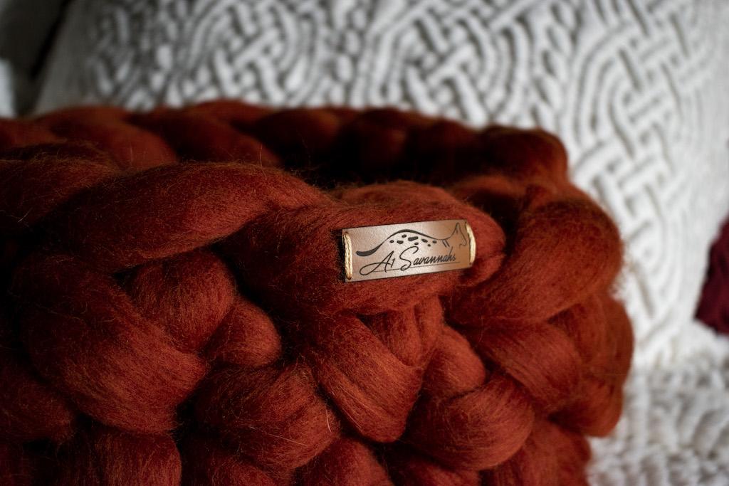 Merino Wool Cat Bed - Rust