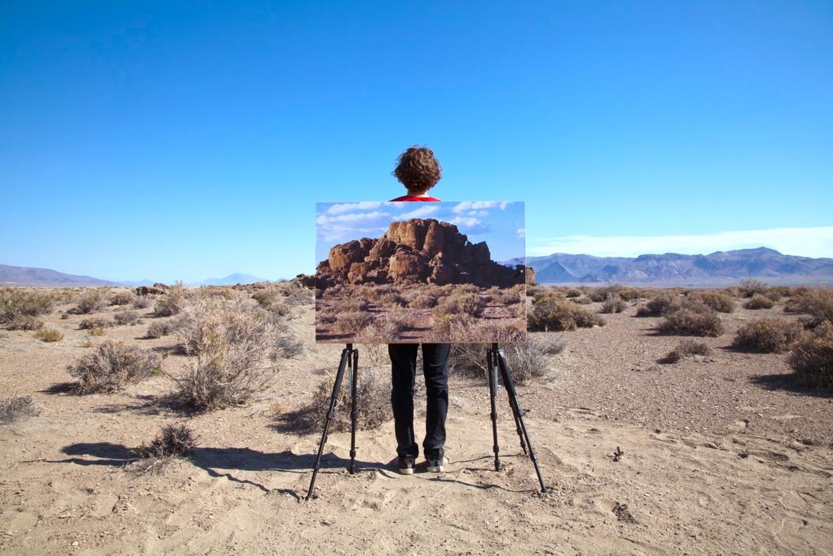 "us through this (rocks), 2013  archival pigment print,165cm x 110cm / 65"" x 43"""