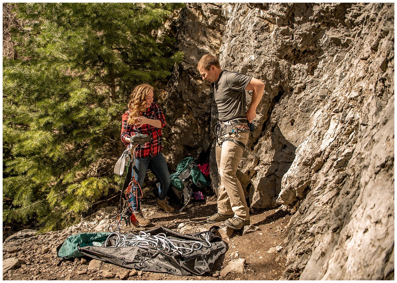 Dan Page Photography, Rock Climbing Engagement Adventure Session, Rock Canyon, Provo (2).jpg