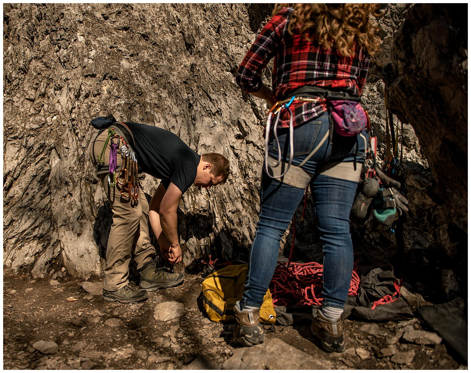 Dan Page Photography, Rock Climbing Engagement Adventure Session, Rock Canyon, Provo (5).jpg