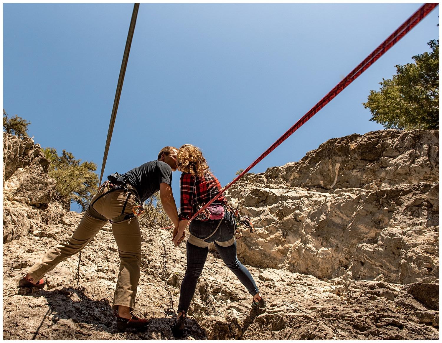 Dan Page Photography, Rock Climbing Engagement Adventure Session, Rock Canyon, Provo (12).jpg