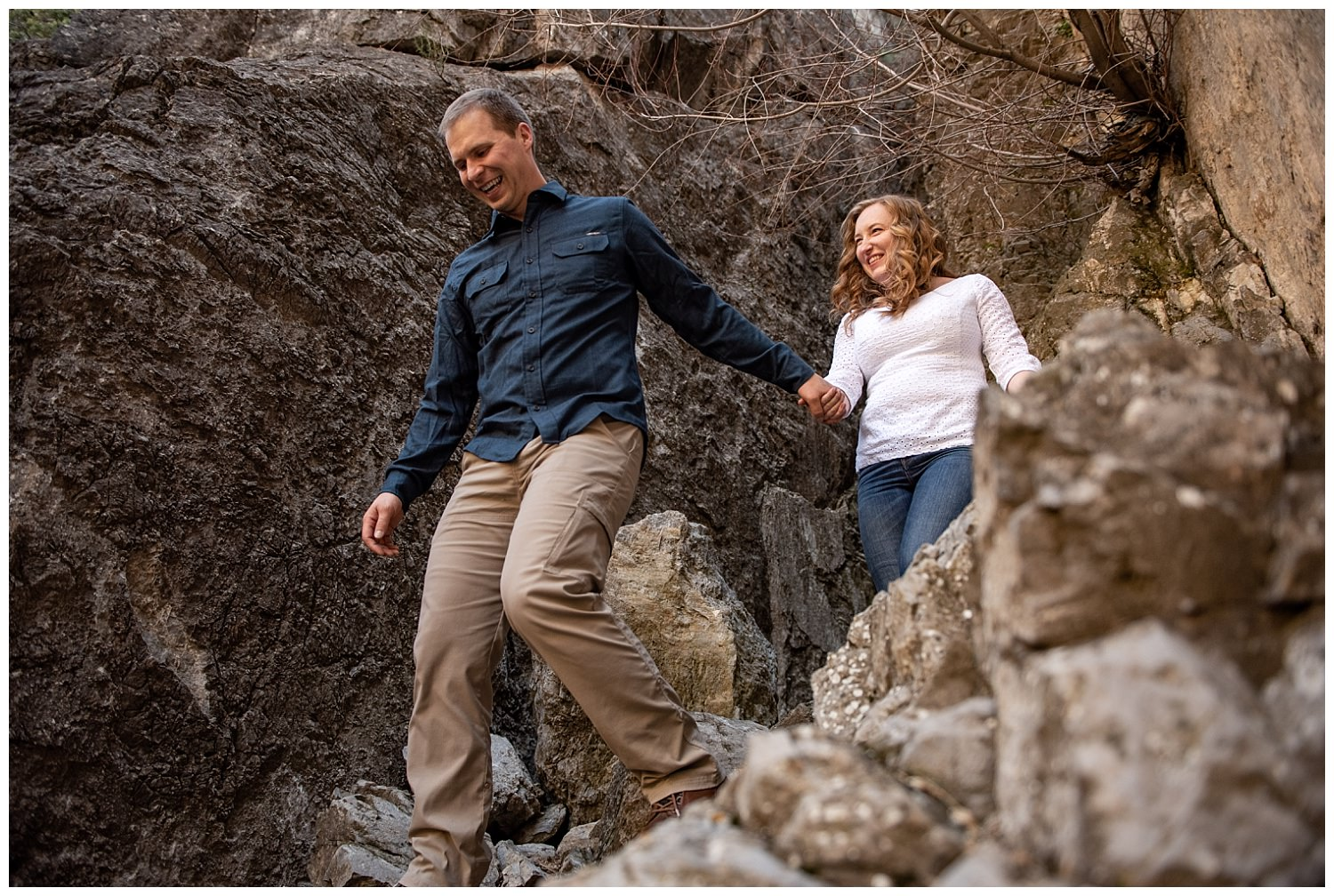 Dan Page Photography, Rock Climbing Engagement Adventure Session, Rock Canyon, Provo (19).jpg